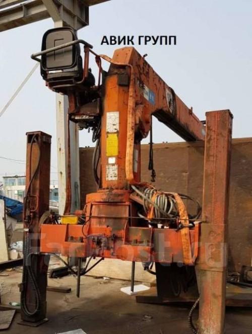 Кран манипулятор Kanglim 6.5 тонн, высокие аутригеры, верх пост